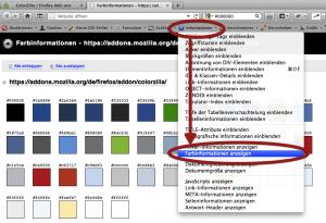 RGB Werte mit der Web-Developer Toolbar anzeigen