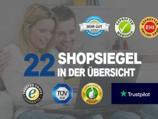 22 Shopsiegel in der Übersicht